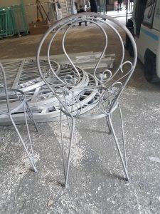 Patio chair/ Sandblasting